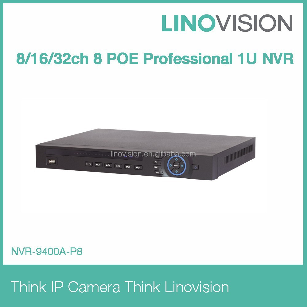 8/16/32 channel 8 POE Professional 2HDD 1U NVR working perfectly with Dahua IP camera