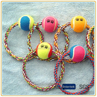 With rope high quality tennis ball dog toys