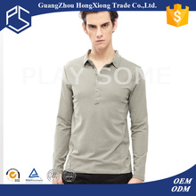 Promotion cheap price 100%cotton long sleeve winter blank man polo t-shirt