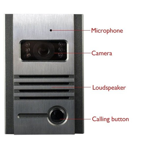 7 inch color video door phone/video door bell intercom system