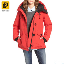 New apparel wholesale winter colthing slim fit down filled parka womens coat