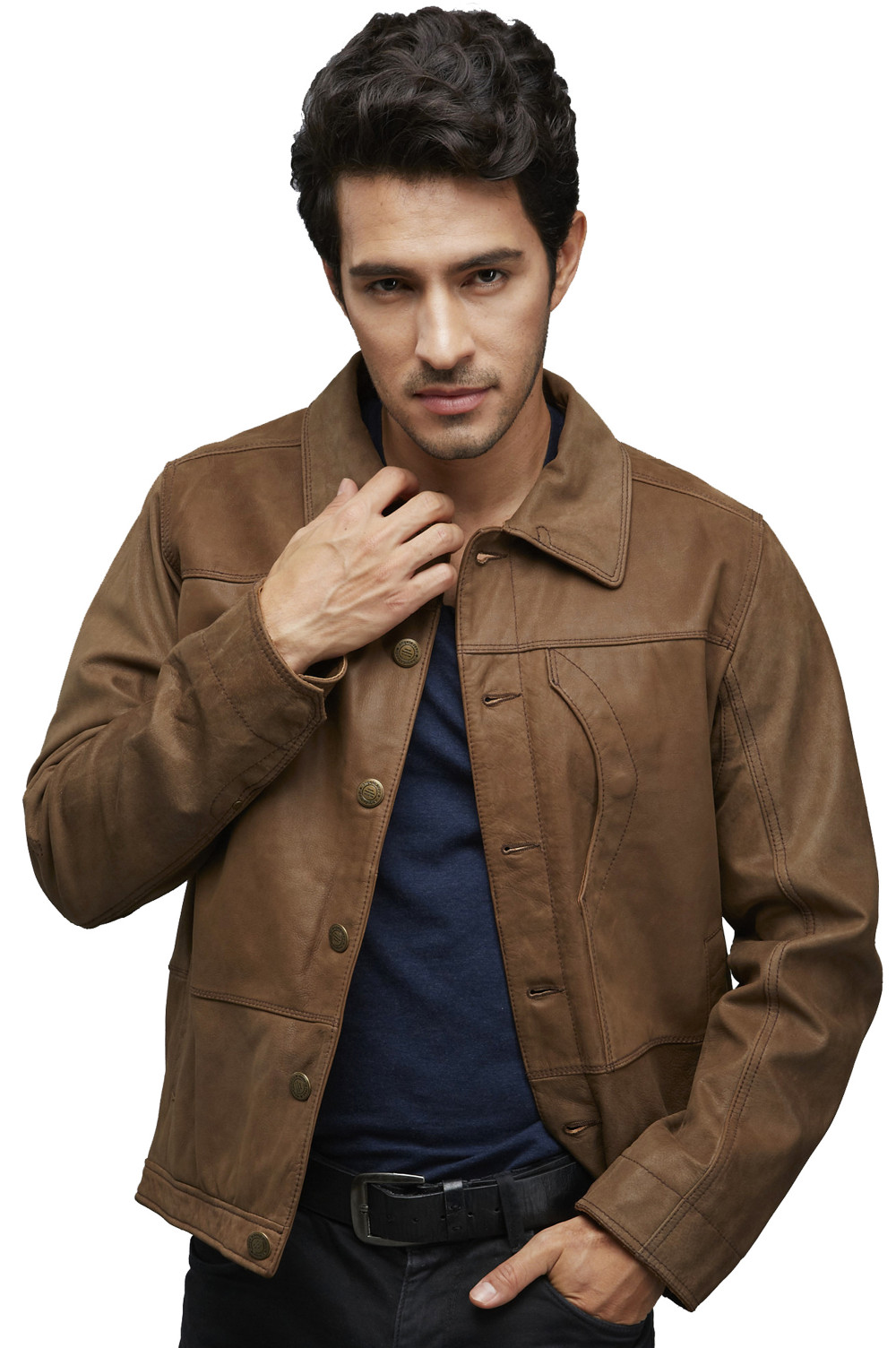 High End Vintage Style Suede Leather Jacket for Men