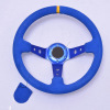 China Supplier Auto Parts Universal 350mm Suede Replacement Steering Wheel