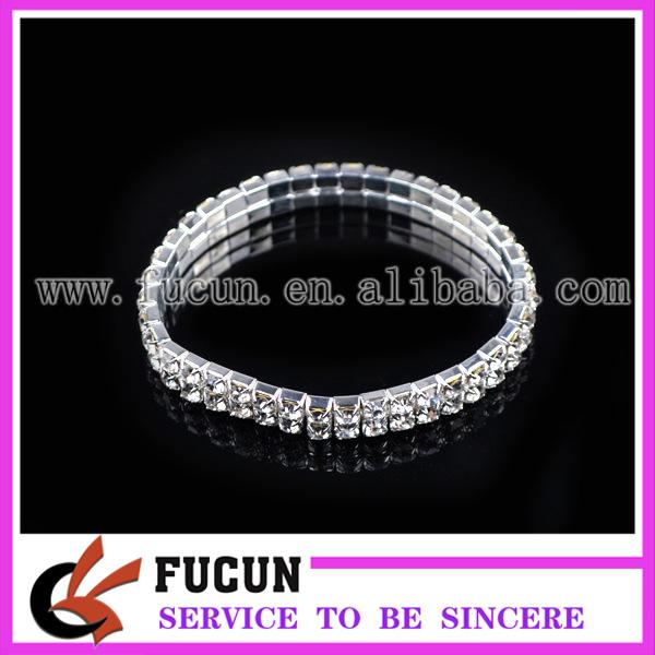 2 rows elastic rhinestone bracelet.jpg