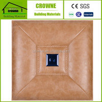 3D PVC leather decorative wall covering panel 3D leather wall panel 3D TV background wall 3D Decorative