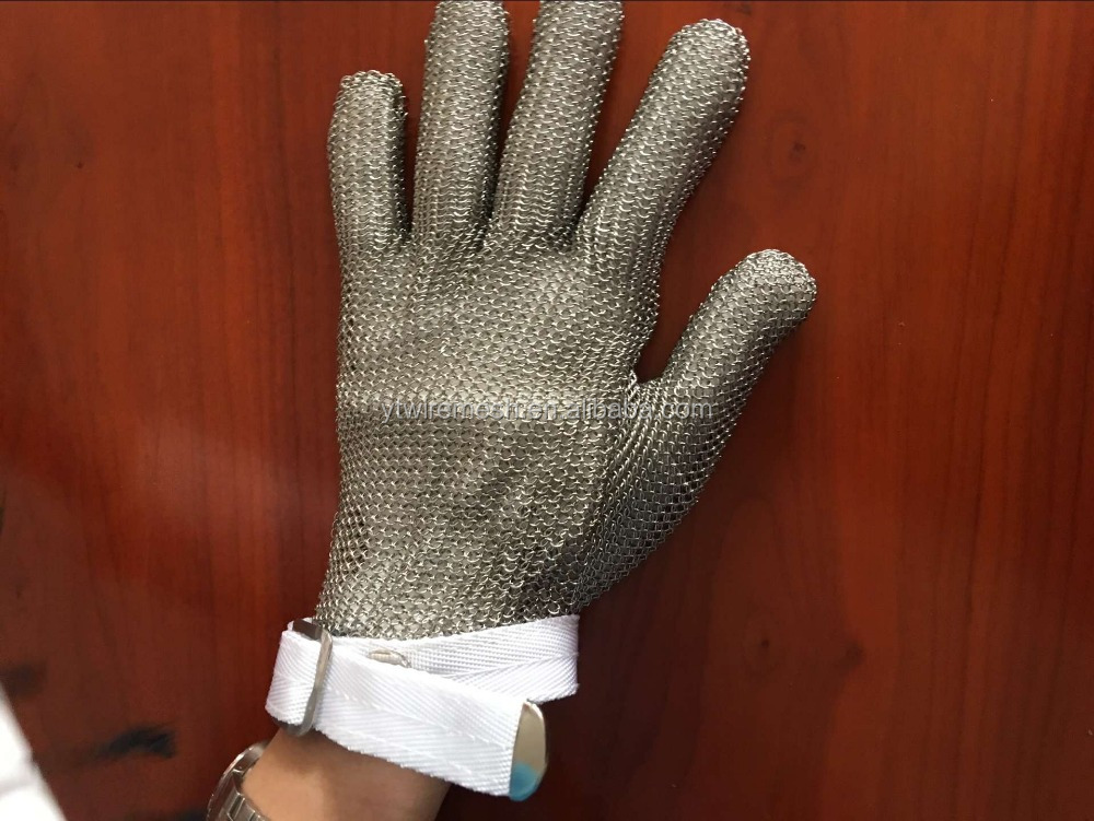 Stainless Steel Butcher protection glove/cut resistant glove