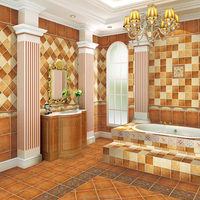 Building Materials Glazed Ceramic Bathroom Floor Wall Rustic Tile