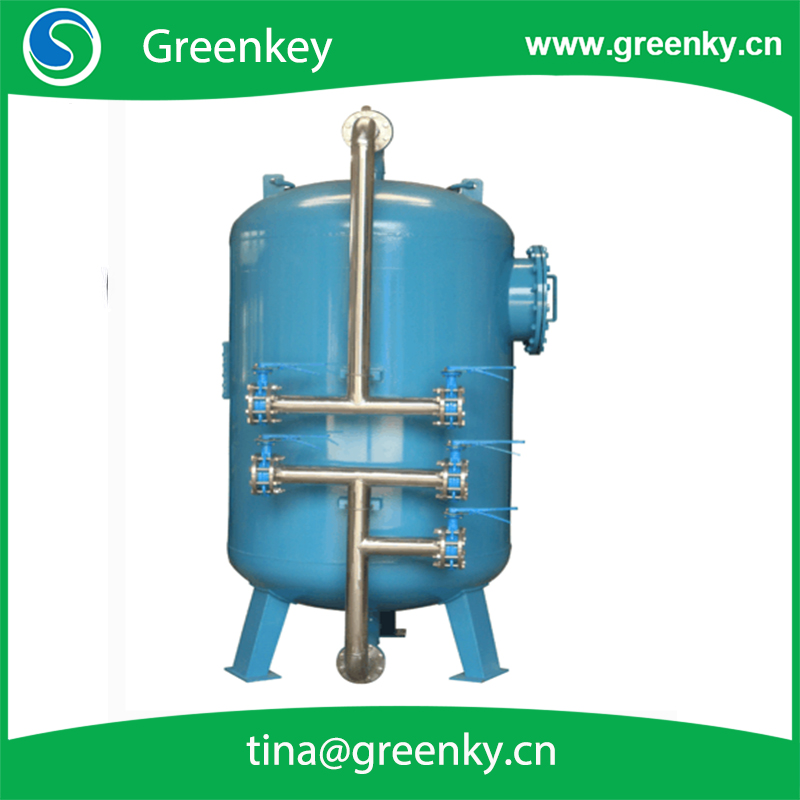Pressure sand filter tank machine for water treatment
