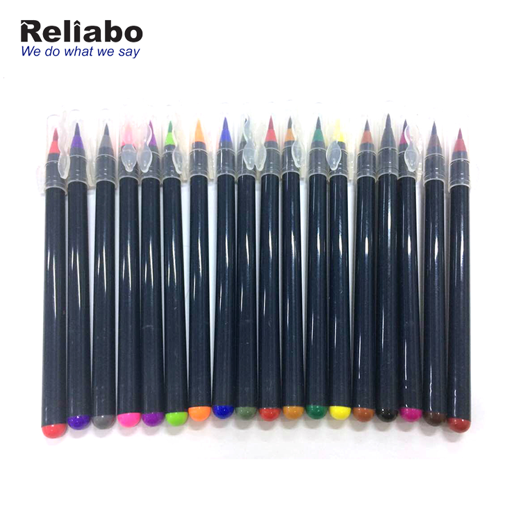 24 Colors Art Water Color Calligraphy Drawing Tool Water Brush Pen Brush Washable Marker pen