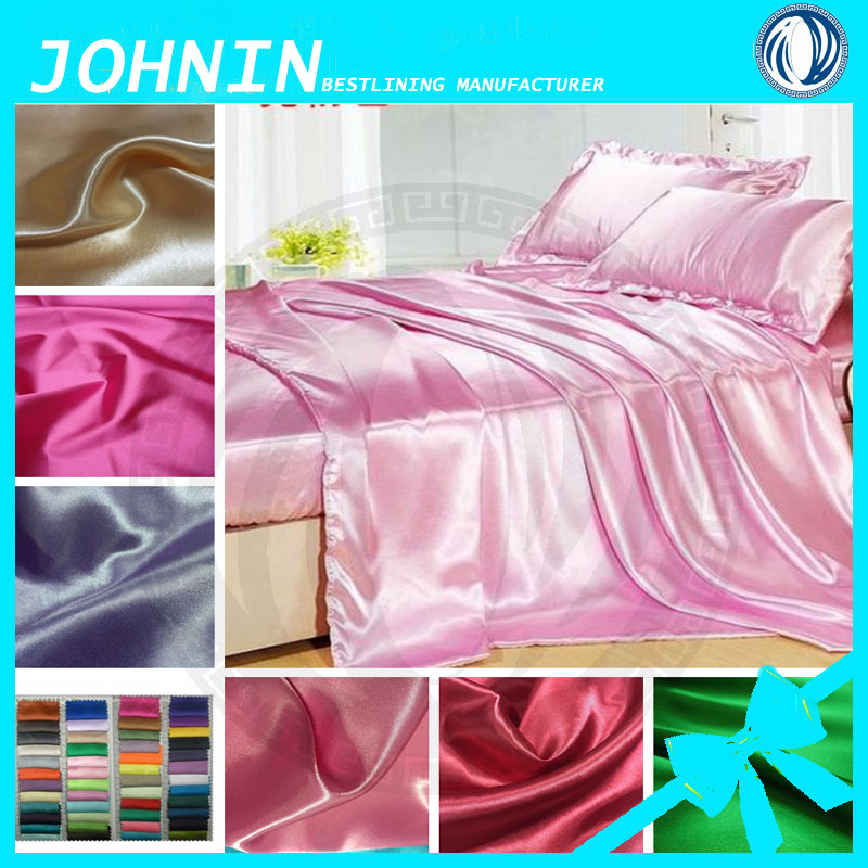 high-quality bedding fabrics 100% polyester satin fabics manufacturer