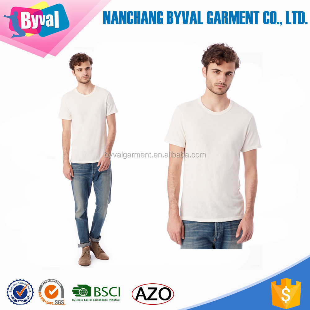 100%cotton v neck collar t shirt wholesale dri fit plain blank man's t shirt with factory price