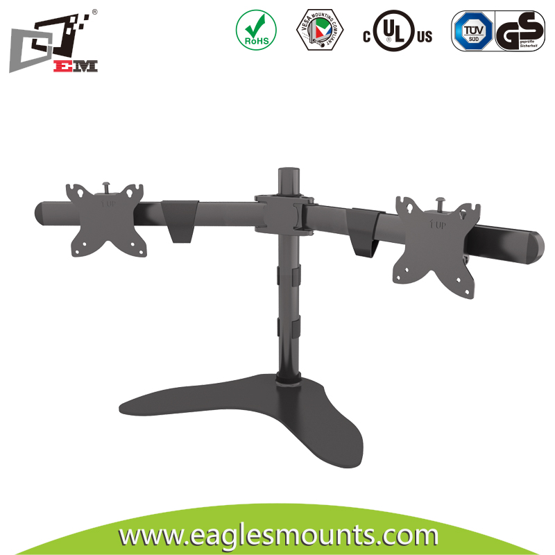Die Casting Swivel Dual LCD Monitor Desk Mount Stand For Desk