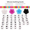 2017 New products multi color silicone teething beads with FDA certificate