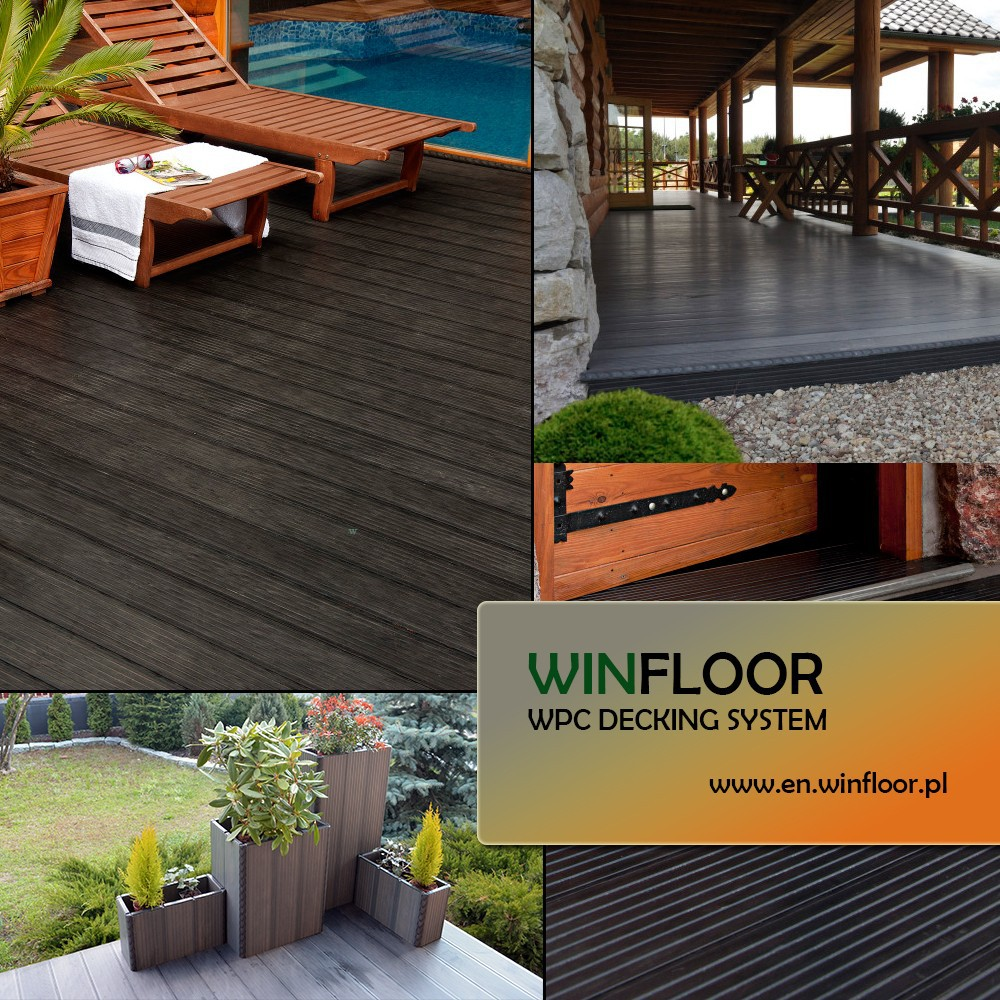 WPC PVC Decking System made in EU View OUTDOOR WPC DECKING SYSTEM