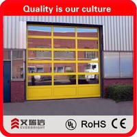 Commercial full view clear glass aluminum garage door