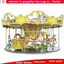 Amusement park equipment commercial kids carousel carnival ride used merry go round horse for sale