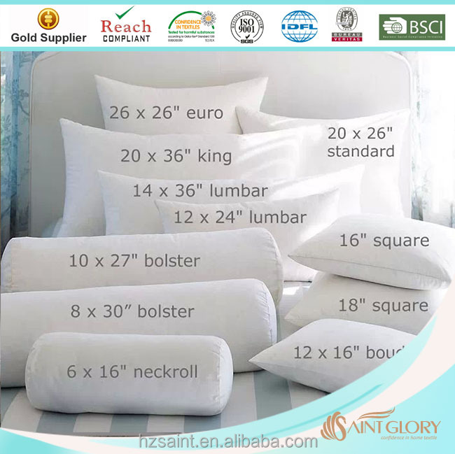 Saint Glory professional factory price classic duck down and feather pillow cushion insert square cushion feather pillow