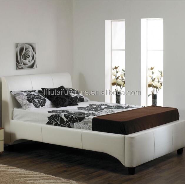 white color twin size simple design PU leather bed