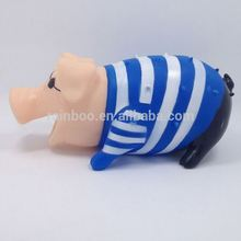 New design latex screaming rubber pig dog toys with squeak