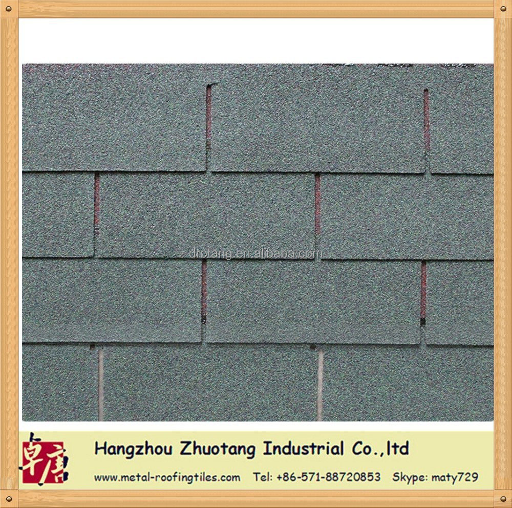 Starfoo brand 3-tab asphalt Roofing shingle--Asian green