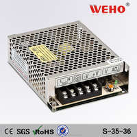 OEM Label 36v dc regulated 35w switch power supply 36v 1a