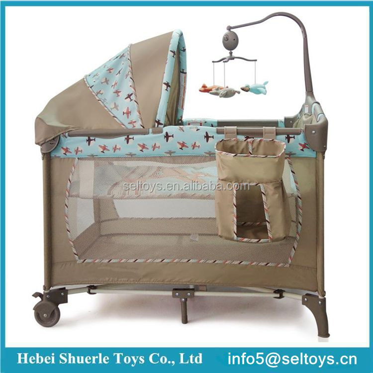 2017 New Modern Foldable Portable Baby Crib baby playpen
