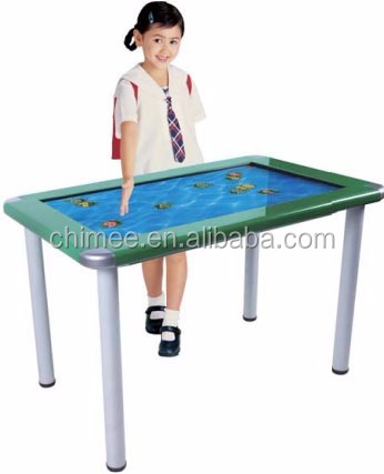 "HQ42CKS-7 42"" Desk type standing touch screen kiosk for child school educations and teaching"