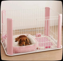 Pretty Convenient foldable Stainless Steel Dog Cage/pink pet carrier