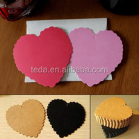 2014Teda Design Laser cut heart shape Blank cards