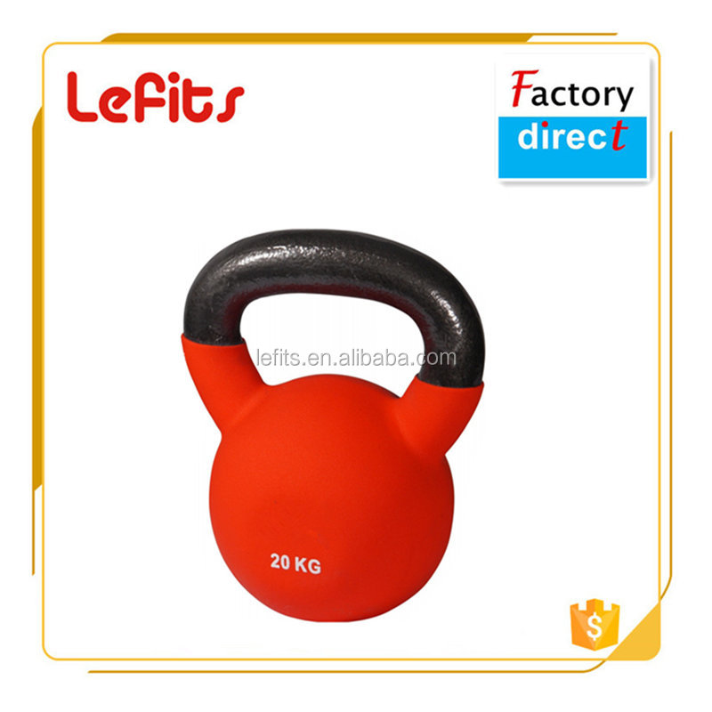 Fitness Cast Iron Colored Neoprene Coated Kettlebell