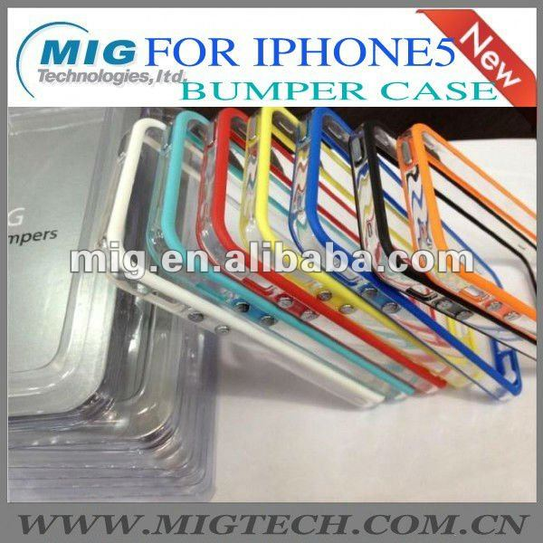 for iphone5 case,transparent bumper case for iphone5 S