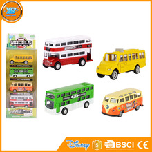 Yibao wholesale high quality strip series city diecast travel bus model toy for kids playing