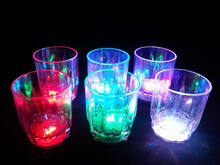 rainbow LED flash glass HOT sell 2016 for bar/night clubs