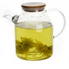 Factory Directly Tea Drinking Clear Glass Teapot With Glass Warmer