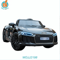 WDJJ2198 Wholesale Gift Items Audi R8 Sports Car Children Electric Ride On Car Games Kids Driving Toys For 10 Year Olds
