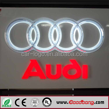 Colorful custom high quality 3D acrylic led illuminated car logos names