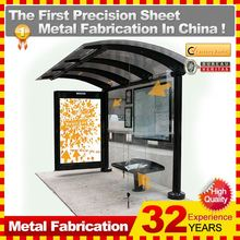 urban outdoor ad tempered galss bus stop shelter,with 32 years' experience