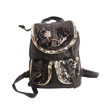Bling Sequins Shoulder Bag Backpack Girls Casual Sparkly Lightweight Back Pack