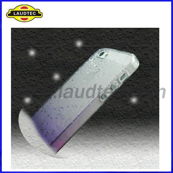 Crystal Hard Back 3D Rain Drop Case for iphone 5