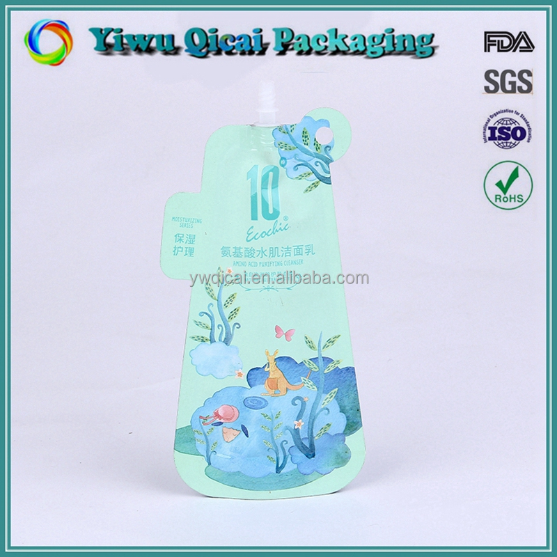Cheap custom colorful printing detergent plastic shaped stand up spout pouch bag manufacturer