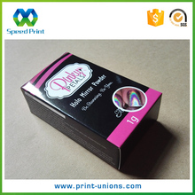 Custom hot sale glitter nail sticker packaging folding paper box with brand logo printed