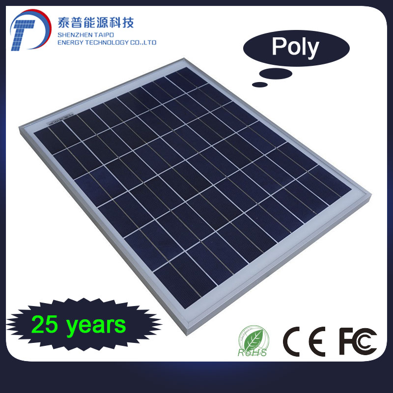 Photovoltaic Power Cleaning Energy 250W Polycrystalline Silicone Solar Array Panels