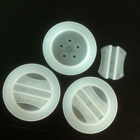 Small plastic one way degassing valve with bag