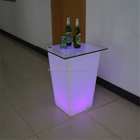 US$69 luminous led table with sink design for modern bar reception use