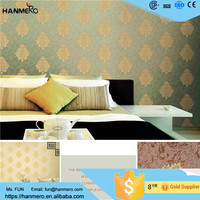 Cheap wholesale damask style vinyl wallpaper factory