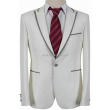 NOS orders Fashion Never out of stock white wedding suits for men in polyester/viscose Material