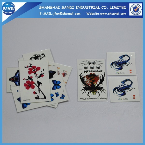 Promotional custom hand temporary tattoo sticker