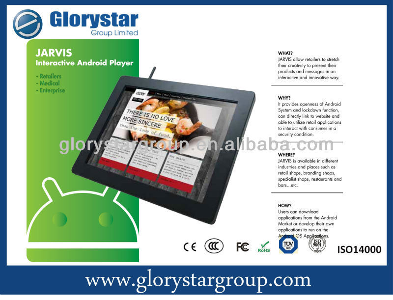 Android Tablet retailers and sales promotional ipad or samsung transonic digital photo frame