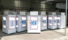 Ice merchandisers for bagged ice, ice storage freezer for sale