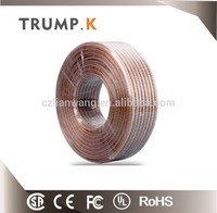 Electrical cables and wires , Best quality round transparent speaker cable /speaker wire